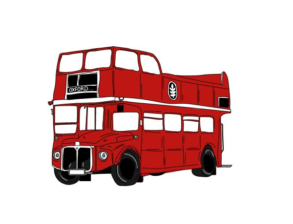 Double Decker Bus illustration.