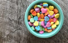 Bowl of candy hearts