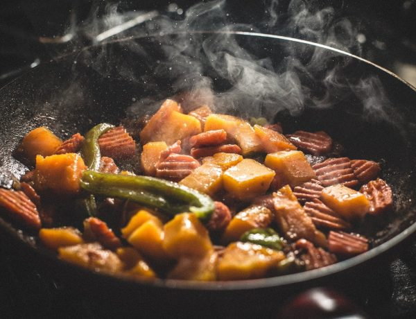 Food in a skillet